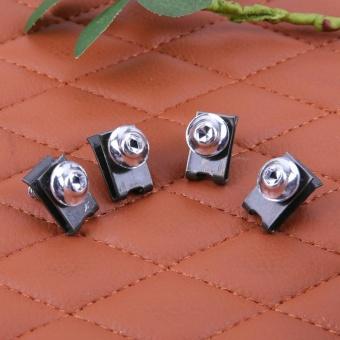 10pcs 5mm Fairing Bolts Spire Speed Fastener Clip Screw Spring Nuts(Silver) - intl - 3