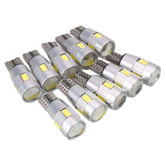 10Pcs T10 194 W5W SMD5630 LED Auto Car HID Canbus Error Free Wedge Light - intl