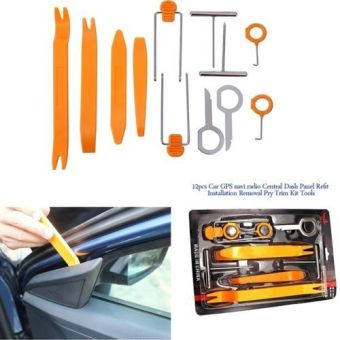 12 Car Stereo Radio Door Trim Dash Panel Install Removal Pry Tools Kit - Intl