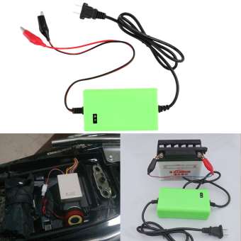 12V 2A Voltage Rechargeable Battery Power Charger 220V AC forMotorcycle Green (Intl)