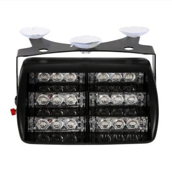 12V Car Police Strobe Lamp 18 LEDs Dash 3 Flash Lights Red - intl - 4