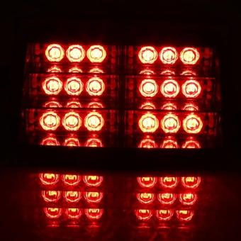 12V Car Police Strobe Lamp 18 LEDs Dash 3 Flash Lights Red - intl - 2