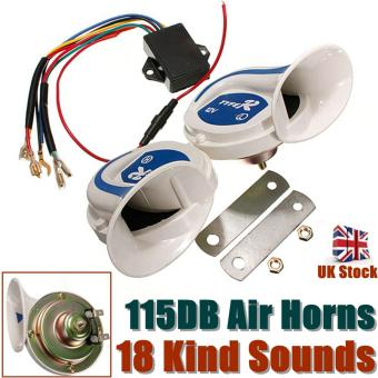 12V Electric Digital Siren Snail Loud 115DB Air Horns 18 Kind Sound Car Van Boat
