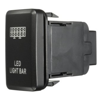 12V LED Fog Work Indicator Light Push Button Switch For Toyota Landcruiser Prado (Led Light Bar) - intl - 3