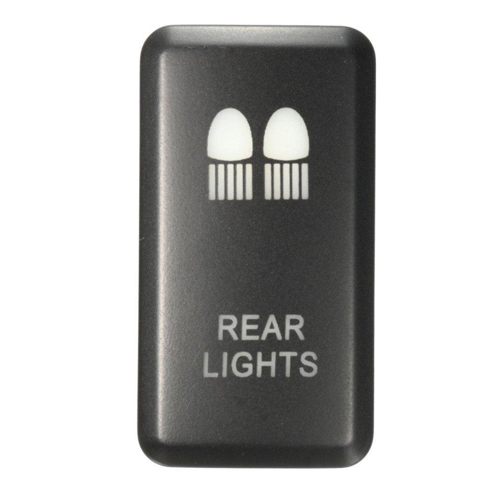... 12V LED Fog Work Indicator Light Push Button Switch For Toyota Landcruiser Prado (Rear Light ...