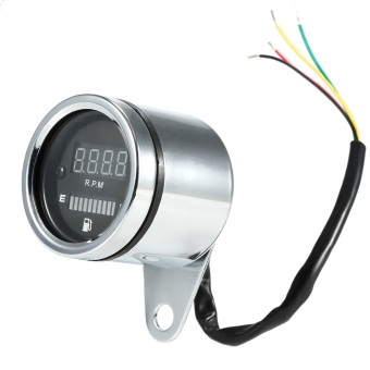 12V Motorcycle 2 in 1 Tachometer RPM Shift Meter Fuel Gauge Meterwith Digital LED Indicator. Price Philippines