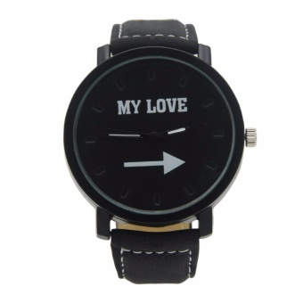 1315 My Love Leather Band Watch (Black) #0127