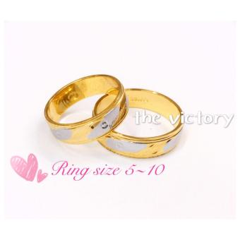 14K Gold Plated Couple Ring