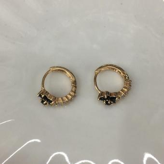 14k rose gold hoop earring - 4