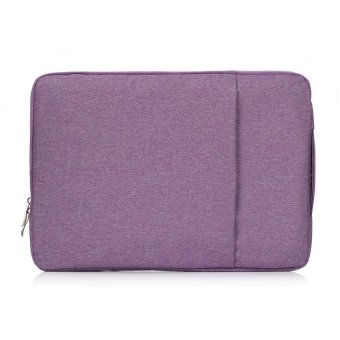 15 Inch Denim Double Design Laptop Bag Notebook Case(Purple) - intl