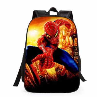 16 Inch Children School Shoulder Bags Hero Backpack Boys Girls Bag Students Backpacks For Teenager - intl