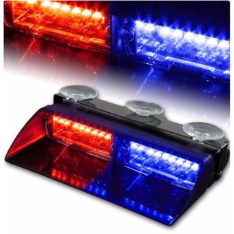 16 LED 18W Windshield Emergency Flash Strobe Light For InteriorDash Red Blue - intl