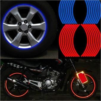 "16 Pcs Strips Wheel Stickers And Decals 14"" 17"" 18"" Reflective RimTape Bike Motorcycle Car Tape 5 Colors Car Styling,Blue - intl Price Philippines"