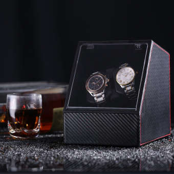 1621CFL Automatic Watch Winder Double Watches (Black)