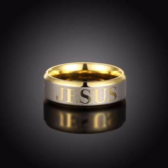 18k Gold Plated Jesus Ring (Keep The Faith) SIZE 5 - 3