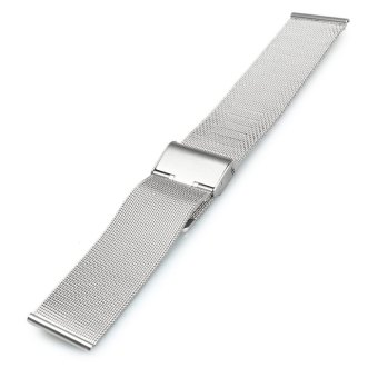 18mm Stainless Steel Mesh Bracelet Watch Band Replacement Strap for Men Women (Silver) - 5