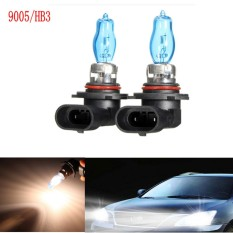 1Pair 9005/HB3 6000K 12V 100W White Car Driving HOD Xenon Bulb Lamp Light Headlight