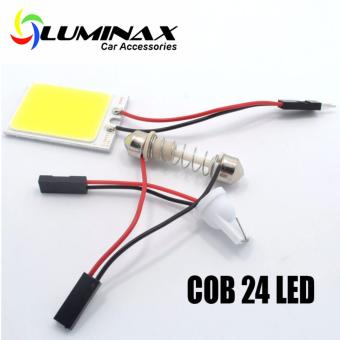 1pc 24COB Universal LED Dome light for Interior Reading Light LampCar Interior Lamp LED bulbs Car Styling for toyota honda ford mazdanissan kia chevrolet bmw isuzu suzuki