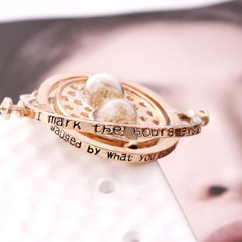 1pc Gold Hourglass Time Turner Necklace Hermione Granger RotatingSpins (Size: 30 g) -Gold - intl - 3