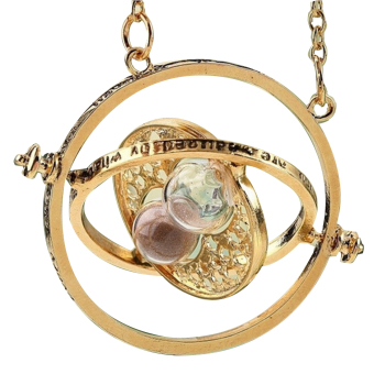 1pc Hourglass harry potter Time Turner Necklace Hermione GrangerRotating Spins chain choker