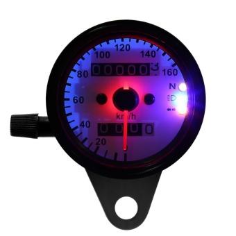 1pc Universal Motorcycle Odometer Speedometer Gauge Dual Digital Display KM/H - intl - 5