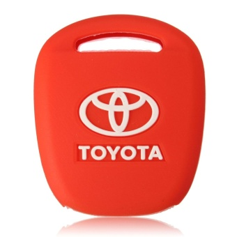 2 Buttons Black Silicone Cover Shell For Toyota Prius 4Runner Straight Corolla RAV4 Camry Remote Key Case (Red) - intl - 2