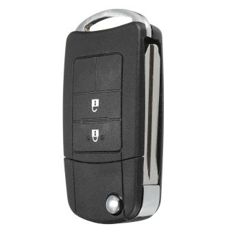 2 Buttons Flip Key Case Shell Uncut Blade For Toyota Camry Corolla Yaris Rav4 - 4