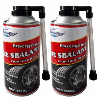 2 can Combo Tire Inflator / Floor Jack alternative / Tire Sealant450 ml