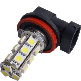 2 H11 18 SMD LED White Car Fog Head Light Lamp Bulb 12V