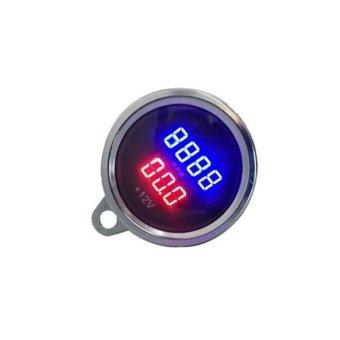 2 In 1 Universal Digital Display Waterproof LED Voltage MeterTachometer For DC 12V Motorcycle - intl - 4
