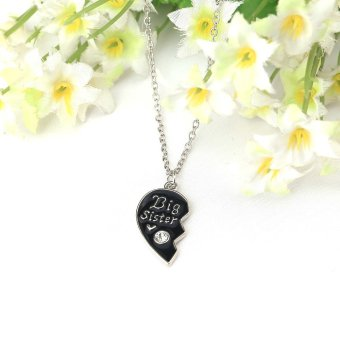 Where to buy 2 parts broken heart shaped pendants necklaces set with 2 parts broken heart shaped pendants necklaces set with lobster clasp personalized fine jewelry gift for best friend 45cm in product galerie aloadofball Gallery