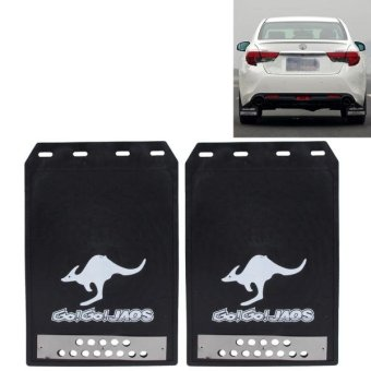2 PCS Premium Heavy Duty Molded Splash Mud Flaps Rear Auto FrontAnd Rear Guards Medium Size(Black) - intl