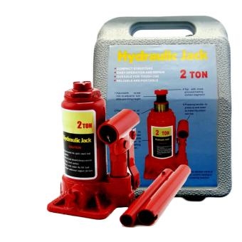 2 Ton Hydraulic Bottle Jack with Plastic Carrying Blown Case (Red)with Free Wrench - 2