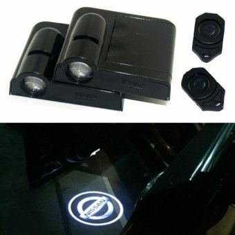 2 x LED Car Door Warning Light With Projector Logo For Nissan Almera X-Trail Armada Cube Dualis Frontier GT-R Juke Maxima Rugue - intl