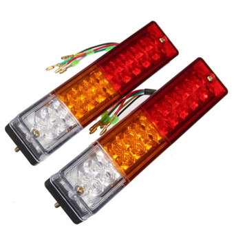20 LED Trailer UTV Truck Rear Brake Reverse Tail Light Bright TurnSignal 12V