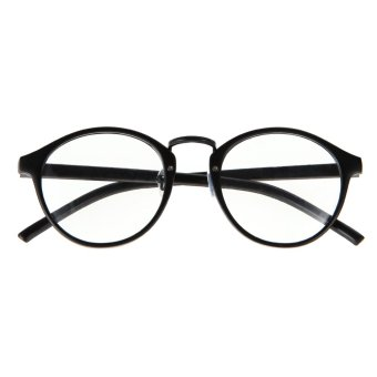2015 Fashion Eyeglasses Frame Optical Reading Eye plain Glasses (Black)
