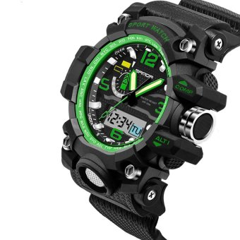 2016 High Quality SANDA 732 Multifunctional Outdoor SportsWaterproof Shockproof Electronic Watch(green)