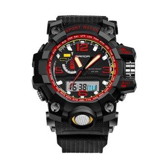 2016 High Quality SANDA 732 Multifunctional Outdoor SportsWaterproof Shockproof Electronic Watch(red) - 2