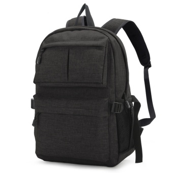 2017 Canvas Men's Backpack Bag Brand 14 Inch Laptop Notebook Mochila for Men Waterproof Back Pack School backpack bag - intl