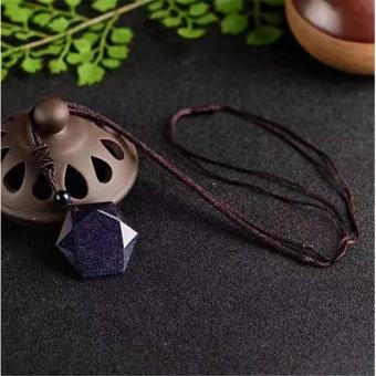 2017 Fashion Universe Spiritual Energy Hexagram Blue SandstonePendant Necklace Grounding Stone Protection Amulet - intl - 2
