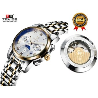 2017 Mechanical Watches Luxury Top Brand TEVISE Men Sport Watch Gold Clock Mens Calendar Automatic Wristwatch With Moon Phase - intl