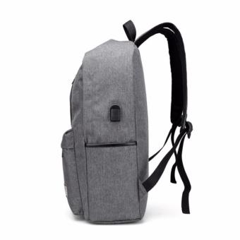 2017 New Design USB 15 Inch External Laptop Backpacks CanvasRucksack Backpacks New Fashion Travel Backpack Boy Girls SchoolBags - intl - 3