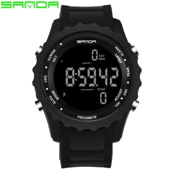 2017 New Popular Mens Watches Top Brand Sanda Luxury Military Chronograph LED Sport Digital Watch Men Waterproof Wristwatches Relogio Masculino 370 - intl