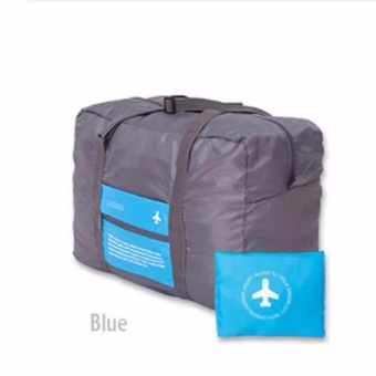 2017 New Style Aircraft Bag Portable Large-capacity Hand LuggageStorage Bag Foldable Waterproof Handbag Travel Bag(Blue)