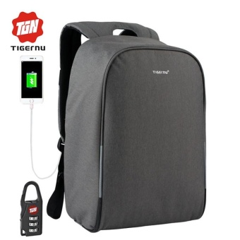 2017 New Tigernu 15.6inch Anti-theft Laptop Backpack External USBCharging Business Laptop Backpack Travel Bags - intl