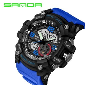 2017 SANDA Military Watch Men Waterproof Sport Watch For Mens Watches Top Brand Luxury Clock Camping Dive relogio masculino 759 - intl