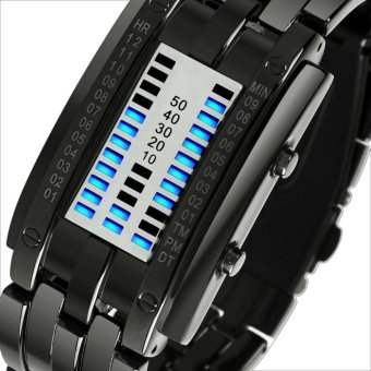 2017 SKMEI Popular Brand Men Fashion Creative Watches Digital LEDDisplay Water Shock Resistant Lover's Wrist Watches ClockWaterproof watch(men) - intl - 2
