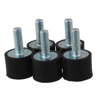 2*1.5CM VDM6 Rubber Shock Absorbers Set of 5 Black Silver