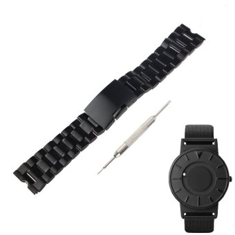 22mm Stainless Steel Watch Band for Eone The Bradley TimepieceWatch +Tool Black