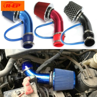 2.5'' - 3.0'' Universal Performance Cold Quality Auto Air Intake Filter Alumimum Induction Pipe Hose System (Black) - intl